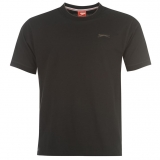 Slazenger Plain T Shirt Mens Black