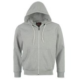 Lee Cooper Basic Zip Hoody Mens Grey