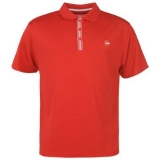 Dunlop Plain Golf Polo Shirt Mens Red