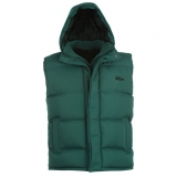 Lee Cooper Hooded Gilet Mens Green