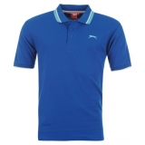 Slazenger Tipped Polo Shirt Mens Blue