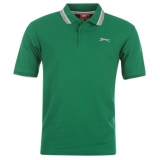 Slazenger Tipped Polo Shirt Mens Green