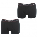 Lonsdale 2Pk Trunk Mens Navy