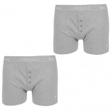 Lonsdale 2 Pack Boxers Mens Grey