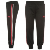 Lonsdale 2 Stripe 3/4  Pants Ladies Black