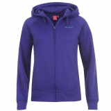 LA Gear Zip Hoody Ladies Purple