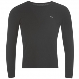 Lonsdale Long Sleeve T Shirt Mens Black