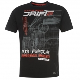No Fear Drifting T Shirt Mens Black