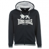 Lonsdale Zip Hoody Mens Navy/White