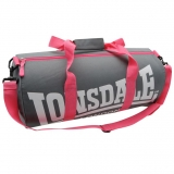 Lonsdale Barrel Bag Grey/Pink