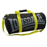 Lonsdale Barrel Bag Charc/Lime
