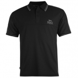 Lonsdale 2 Stripe Polo Shirt Mens Black