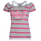 Everlast Mock Layer T Shirt Ladies Grey
