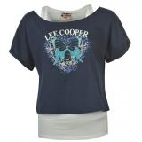 Lee Cooper T-shirt Ladies Grey/Navy