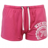 Kickers Print Shorts Ladies Pink