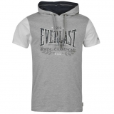 Everlast Hooded T Shirt Mens Grey