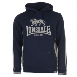 Lonsdale OTH Hoody Mens Navy/Grey