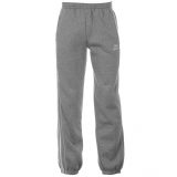 Lonsdale 2 Stripe Joggers Mens Grey/White