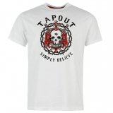 Tapout Print T Shirt Mens White