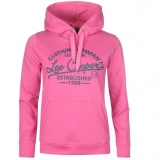 Lee Cooper Hoody Ladies Pink