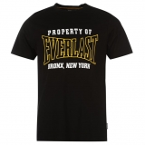 Everlast Rubber Logo T Shirt Mens Black