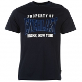 Everlast Rubber Logo T Shirt Mens Navy