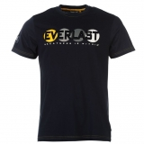 Everlast Flock Crew T Shirt Mens Navy