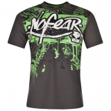 No Fear Moto Print T Shirt Charc