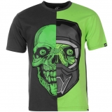 No Fear Graphic T Shirt Mens Charc/Green