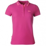 Lonsdale Lion Polo Shirt Ladies Pink