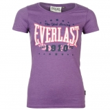 Everlast Logo T Shirt Ladies Purple