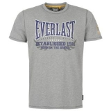 Everlast T Shirt Mens Grey Marl Core