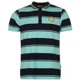 Everlast Stripe Polo Mens Navy/Sky