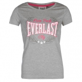 Everlast Scooped Neck T Shirt Ladies Grey