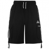 Lonsdale Cargo Shorts Mens Black/White