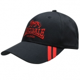 Lonsdale 2 Stripe Cap Navy/Red