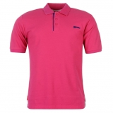 Slazenger Plain Polo Shirt Mens Pink