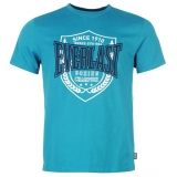 Everlast Printed T Shirt Mens Teal