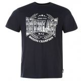 Everlast Printed T Shirt Mens Navy