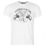 Pierre Cardin Print T Shirt Mens White