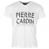 Pierre Cardin V Neck T Shirt Men White