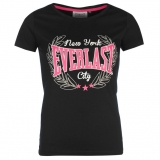 Everlast Scooped Neck T Shirt Ladies Black