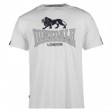 Lonsdale 2 Stripe T Shirt Mens White