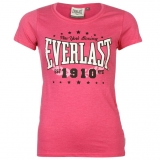 Everlast Logo T Shirt Ladies Pink