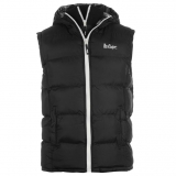Lee Cooper Two Zip Gilet Mens Black