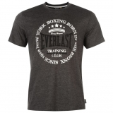 Everlast Printed T Shirt Mens Charcoal
