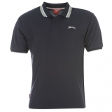 Slazenger Tipped Polo Shirt Mens Navy