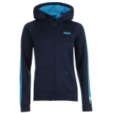 Lonsdale Hoody Ladies Navy/Sky
