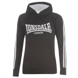 Lonsdale Hoody Ladies Black/White