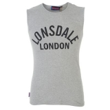 Lonsdale Sleeveless TShirt Mens Grey